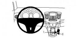 Fixation voiture Proclip  Brodit Chevrolet Cruze Réf 834350
