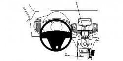 Fixation voiture Proclip  Brodit Kia Cerato Réf 834372