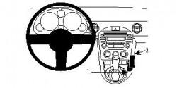 Fixation voiture Proclip  Brodit Mazda Miata Réf 834416