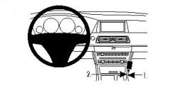 Fixation voiture Proclip  Brodit BMW 5-series GT F07 Réf 834423