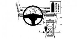Fixation voiture Proclip  Brodit Subaru Legacy  Ne pas utiliser avec des dispositifs horizontaux. Réf 834452