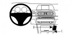 Fixation voiture Proclip  Brodit BMW 5-series F10, F11  UNIQUEMENT pour changement de vitesse automatique. Réf 834458