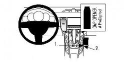 Fixation voiture Proclip  Brodit Porsche Panamera Réf 834483
