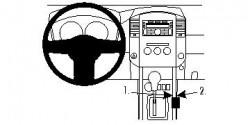 Fixation voiture Proclip  Brodit Nissan King Cab Réf 834521