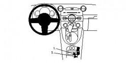 Fixation voiture Proclip  Brodit Mazda 2 Réf 834554