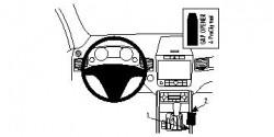 Fixation voiture Proclip  Brodit Volkswagen Touareg Réf 834596