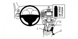 Fixation voiture Proclip  Brodit Nissan Juke  UNIQUEMENT pour changement de vitesse automatique. Réf 834751