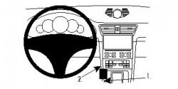 Fixation voiture Proclip  Brodit Porsche 911  UNIQUEMENT pour changement de vitesse automatique. Réf 834773