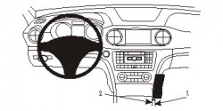 Fixation voiture Proclip  Brodit Mercedes Benz SL-Class Réf 834824