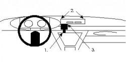 Fixation voiture Proclip  Brodit Citroen CX Réf 851503