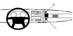 Fixation voiture Proclip  Brodit Volvo 480 ES Réf 851504