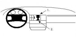 Fixation voiture Proclip  Brodit Audi 100 Réf 851510