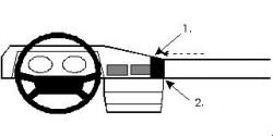 Fixation voiture Proclip  Brodit Mercedes Benz W201 (190/190E) Réf 851517