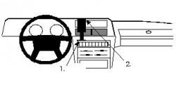Fixation voiture Proclip  Brodit Volvo 240 Réf 851519