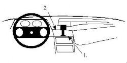 Fixation voiture Proclip  Brodit Opel Kadett Réf 851522