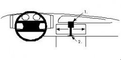 Fixation voiture Proclip  Brodit Audi (Ur)-Quattro Réf 851523