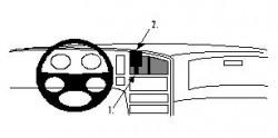 Fixation voiture Proclip  Brodit Saab 9000 Réf 851530
