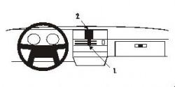 Fixation voiture Proclip  Brodit Volvo 340/360 Réf 851532