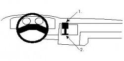 Fixation voiture Proclip  Brodit Ford Escort Réf 851543