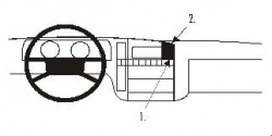 Fixation voiture Proclip  Brodit Opel Omega Réf 851547