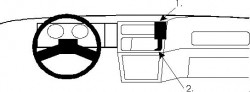 Fixation voiture Proclip  Brodit Ford Sierra Réf 851553