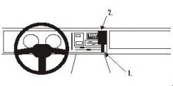Fixation voiture Proclip  Brodit Renault 21 Réf 851573