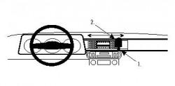 Fixation voiture Proclip  Brodit Jaguar XJS Réf 851576
