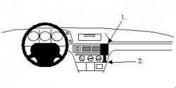 Fixation voiture Proclip  Brodit Citroen BX Réf 851577
