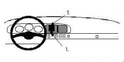 Fixation voiture Proclip  Brodit Porsche 944 Réf 851580