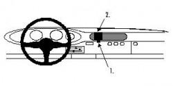 Fixation voiture Proclip  Brodit Porsche 911 Réf 851581