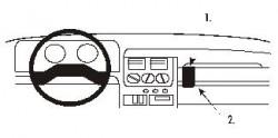 Fixation voiture Proclip  Brodit Peugeot 205 Réf 851589