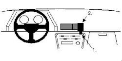 Fixation voiture Proclip  Brodit Toyota Celica Réf 851594