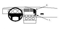 Fixation voiture Proclip  Brodit Volkswagen Corrado  SEULEMENT pour les modèles avec contrôle de la température. Réf 851811
