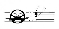 Fixation voiture Proclip  Brodit Volvo F10/F12 Réf 851816
