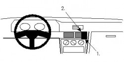 Fixation voiture Proclip  Brodit Mitsubishi Galant Réf 851827