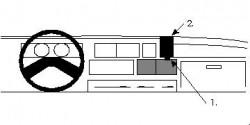 Fixation voiture Proclip  Brodit Citroen C25 Réf 851829