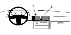 Fixation voiture Proclip  Brodit Honda Civic Réf 851831