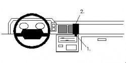 Fixation voiture Proclip  Brodit Nissan King Cab Réf 851836