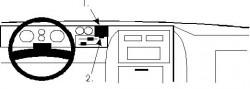 Fixation voiture Proclip  Brodit Chevrolet Van Réf 851838