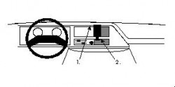 Fixation voiture Proclip  Brodit Ford E-Series Réf 851839
