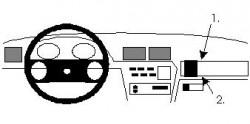 Fixation voiture Proclip  Brodit Opel Calibra Réf 851840