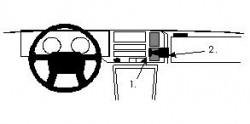 Fixation voiture Proclip  Brodit Volvo 440/460 Réf 851841
