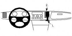 Fixation voiture Proclip  Brodit Saab 900 Réf 851850