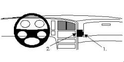 Fixation voiture Proclip  Brodit Saab 9000 Réf 851852