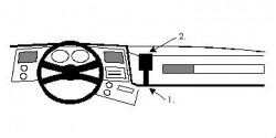 Fixation voiture Proclip  Brodit Chevrolet Blazer Réf 851854