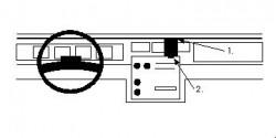 Fixation voiture Proclip  Brodit Chevrolet Caprice Classic Réf 851856