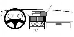 Fixation voiture Proclip  Brodit Honda Concerto Réf 851861