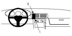 Fixation voiture Proclip  Brodit Mazda 323 F  UNIQUEMENT pour Coupé. Réf 851864