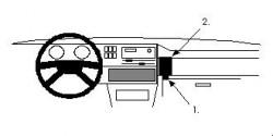 Fixation voiture Proclip  Brodit Volkswagen Golf Réf 851868