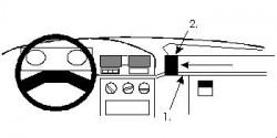 Fixation voiture Proclip  Brodit Peugeot 309 Réf 851869